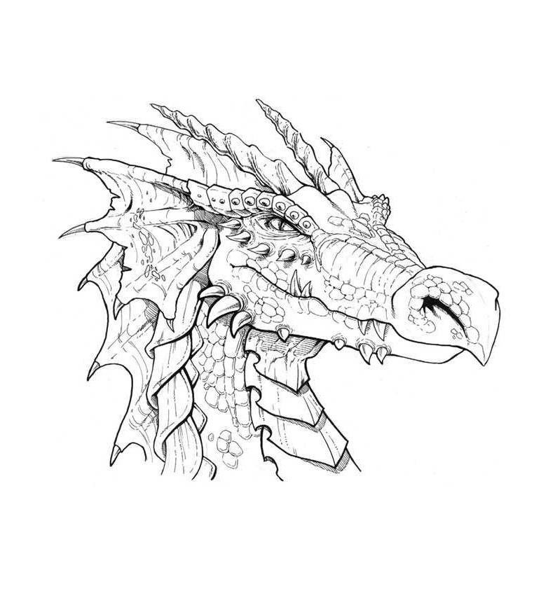 рисунок 3d драконов карандашом